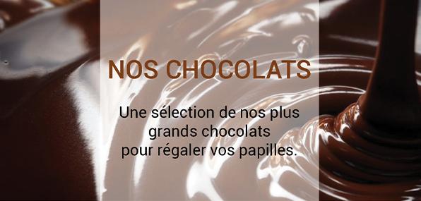 Une sélection de nos plus grands chocolats pour régaler vos papilles de nos créations